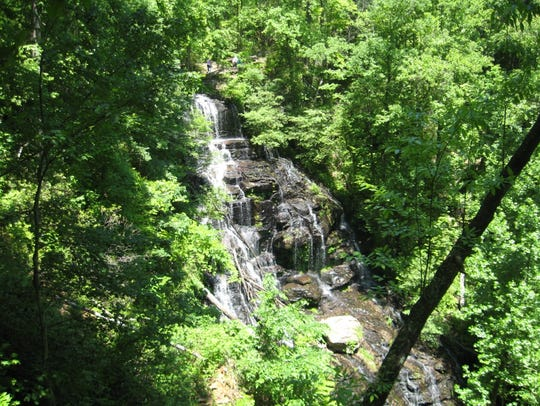 Issaqueena Falls from above the 100-foot cascade.