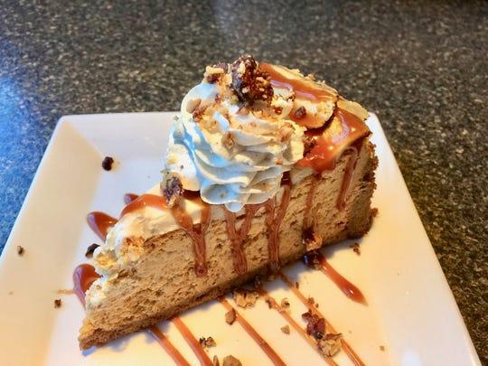 Maple bourbon pumpkin cheesecake, on the dessert menu.