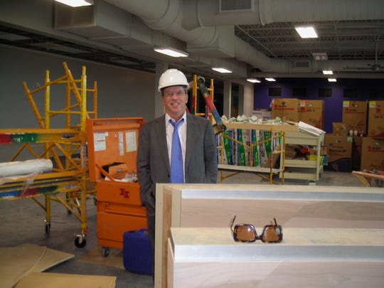 The 2017 Holiday in Dixie Cotillion King Bill Broyles at the YMCA construction site.