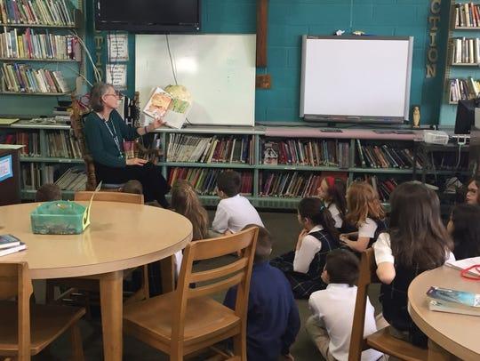 Nancy Pelepko, librarian at Lebanon Catholic School,