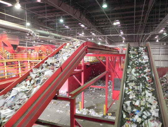 Recyclables from Las Cruces are transported, separated,