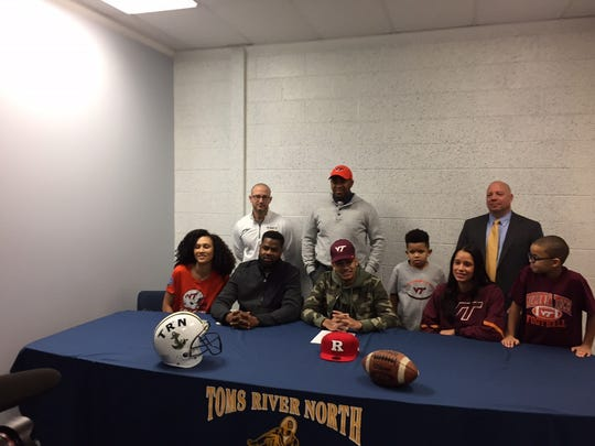 Toms River North's Bryce Watts will continue his education and football career at Virginia Tech.