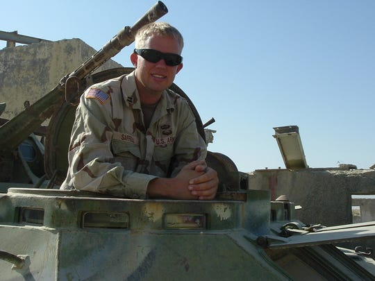 Then-Army National Guardsman Brett Saffell in served