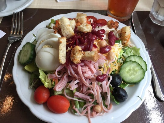 The chef's salad at The Classroom restaurant in the