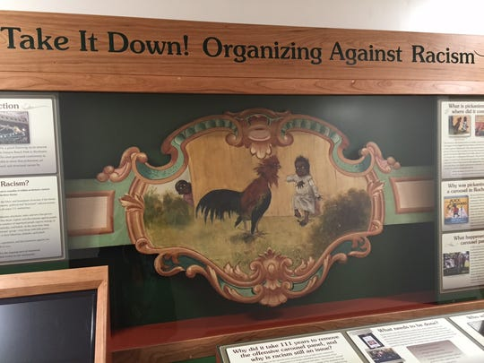 The Rochester Museum and Science Center, with funding from the city, has prepared an educational display from the artwork once displayed on the Dentzel Carousel at Ontario Beach Park.