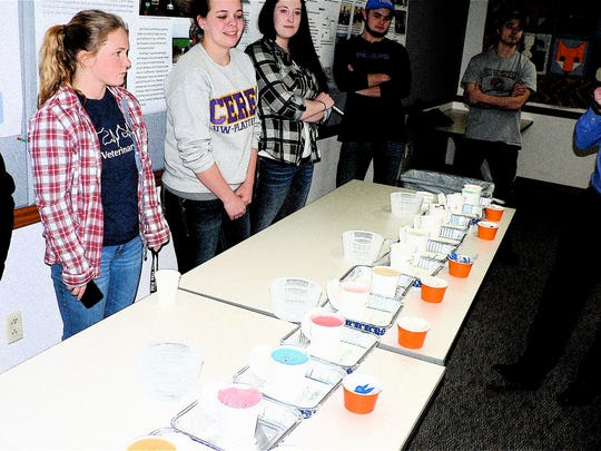 Members of the dairy products class offered 15 new