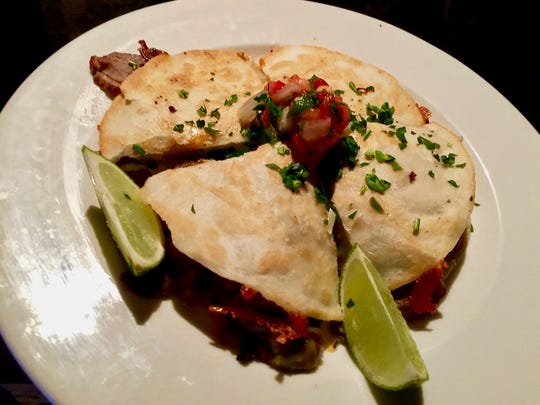 The duck quesadilla appetizer.