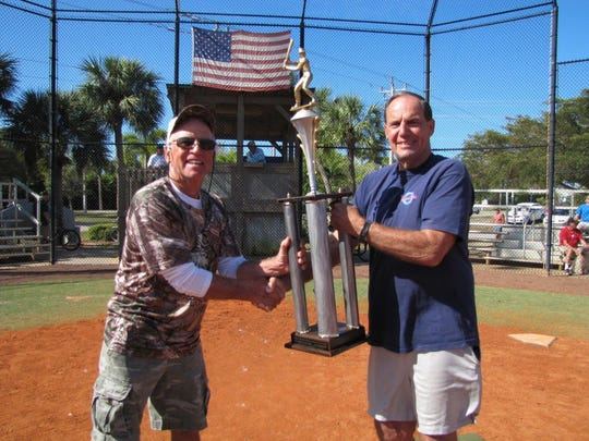 Moose Lodge Manager Gary Badger receives Gulf Coast