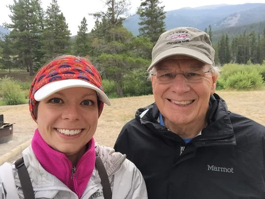 Bronwyn Voth and dad Rich hunt morel mushrooms together