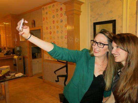 Melissa Eddy-Shelby and Kayla Burkhardt and a selfie