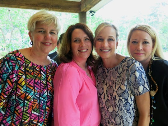 """Tracy Pressly, Tracy Prestwood, Mary Tipton, Jodie McJunkins at """"Mix, Mingle & Margaritas."""""""
