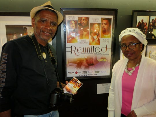 """Jerry and Tarama Davenport at opening of """"Positive Awareness."""""""