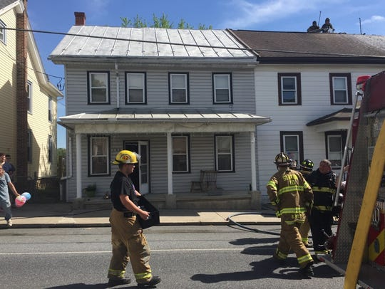 Quick action by volunteer firefighters saved this duplex