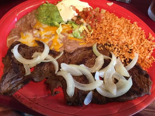 Mexican steak and onions.