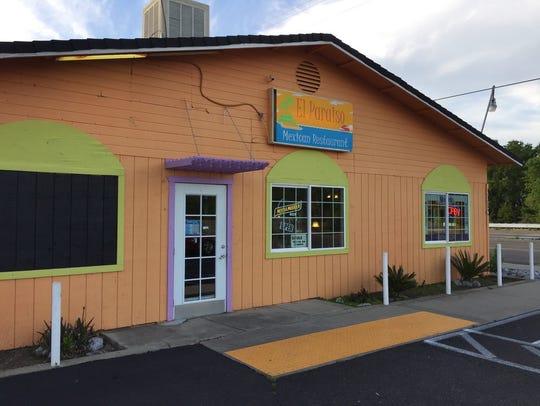 The colorful El Paraiso restaurant on West Center Street