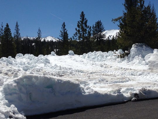 Lassen Volcanic National Park's Devastated Area still has about 5 feet of snow.