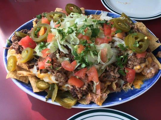 El Patron's brisket nachos.
