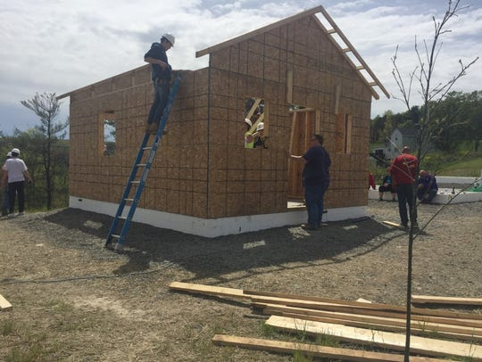 Second Wind Cottage No. 13 being built in Newfield.