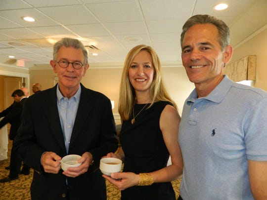 The Community House recently hosted a reception for BSD director Ingrid Tighe, pictured here with BSD board members Bill Roberts (left) and Steve Quintal.