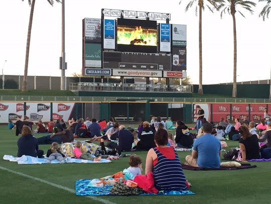 "Movie night at the ballpark: Watch ""Ghostbusters"" on"