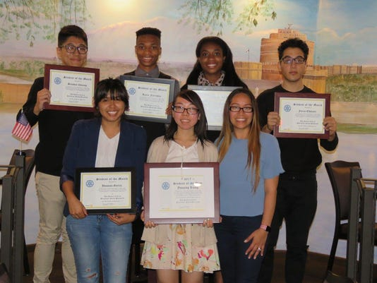 The Rotary Club of Plainfield-North Plainfield/Students on the month
