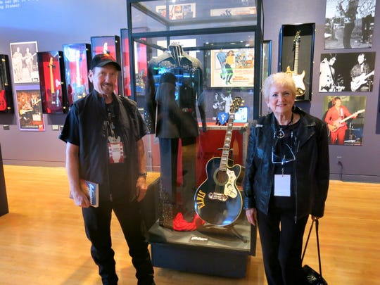 Guitarist James  Burton and wife Louise at artspace