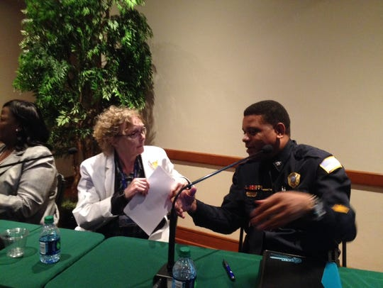 Dr. Karen Chancellor and Col. Paul Wright, commander