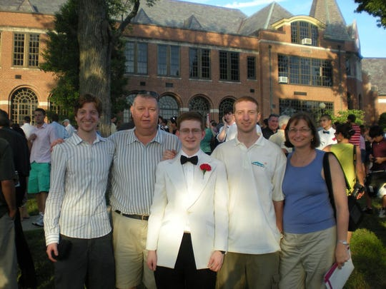 The Clementi family: James, Joe, Tyler, Brian and Jane Clementi.