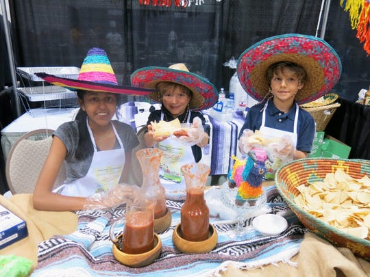 Diya Desai, Christian Vinet and Will Vinet were among Little Chefs at Cooking Classic.