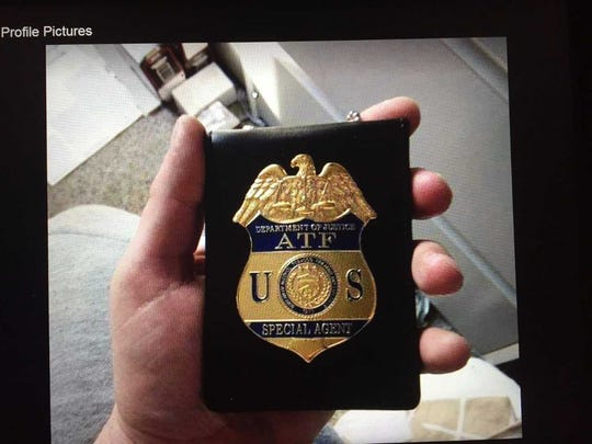 Authorities allege Jonathan Kirschner of Moorestown posted a photo of an ATF badge at a Facebook page.