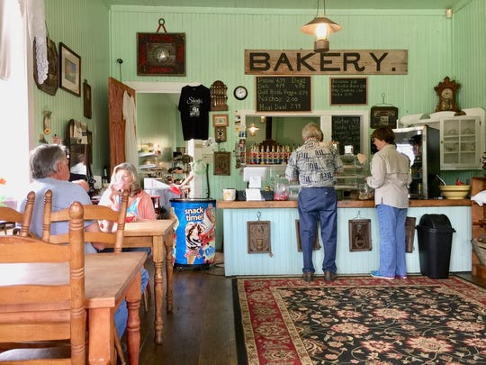 Lunchtime customers at Shorty's Eatery in Old Shasta.