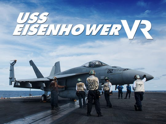 The USA TODAY NETWORK presents 'USS Eisenhower VR', an unprecedented VR interactive transporting viewers to an aircraft carrier during full combat training.