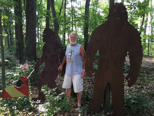 Joe Devilbiss created the Bigfoot couple, which has become a landmark in Fawn Grove.