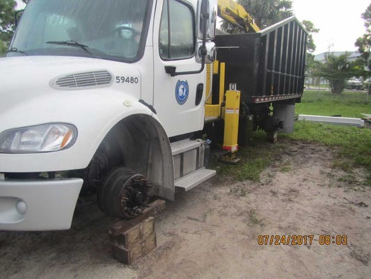 Tires stolen from Martin County vehicles