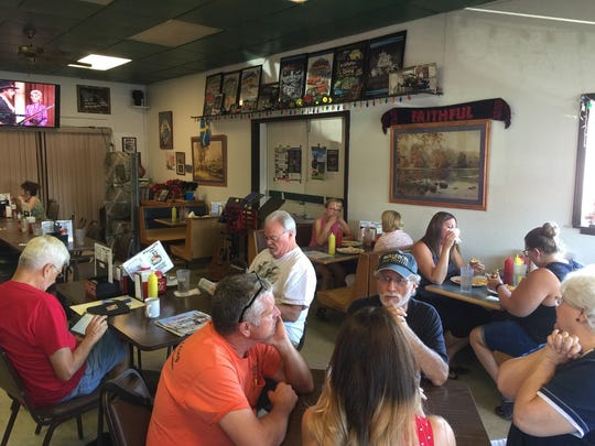 Lunchtime diners at  the 20-year-old Jose's Family Diner in east Redding.