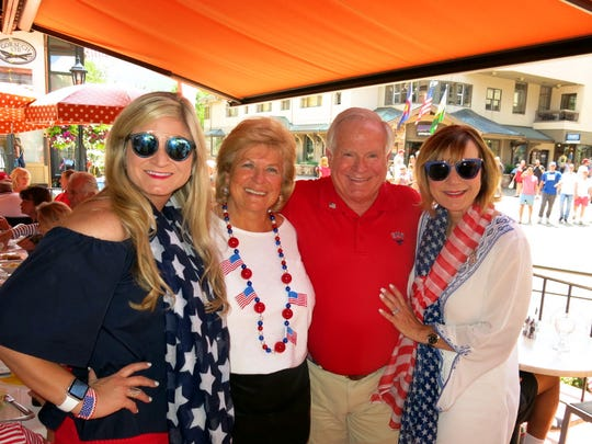 Meredith Allen, Ingrid Gass, Dr. Larry and Lori Allen July on Pepi's Porch..