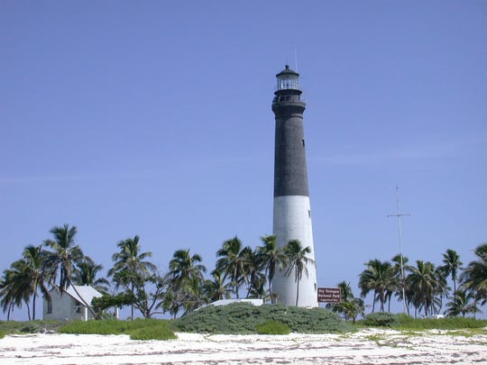 Originally named the Dry Tortugas Light, the Loggerhead Lighthouse was constructed in 1858 and sits off of the Florida Keys in Dry Tortugas National Park.