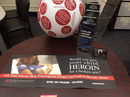 Drug addiction information at the office for Families