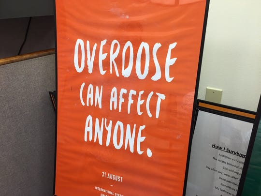 One of the signs that will be on display in Old Bridge for International Overdose Awareness Day on Aug. 31.