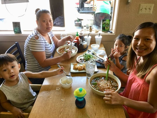 Lunchtime customers at Thai Hut on Hartnell Avenue in east Redding.