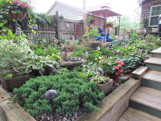 Every square inch of space is planted in the postage stamp-size gardens featured as part of Garden Walk Buffalo.