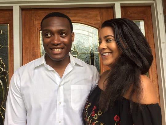 Afam Nwandu and his girlfriend Melanie Milo will be