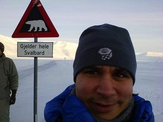 University of Tennessee astronomy coordinator Sean Lindsay poses for a photo in Svalbard, Norway shortly after watching his first total solar eclipse in 2015.