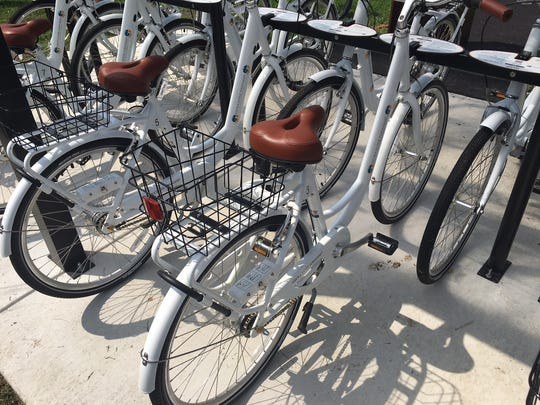 A picture of the new bicycles at the GT Bike Share