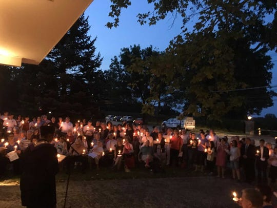 About 250 people gathered at the New Rochelle United