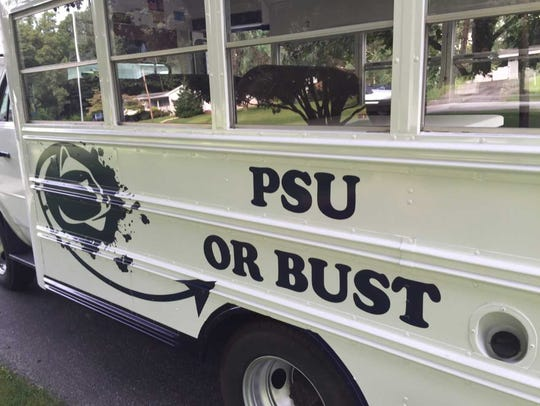 Jerry and Vera Miller's Penn State bus is a hit with