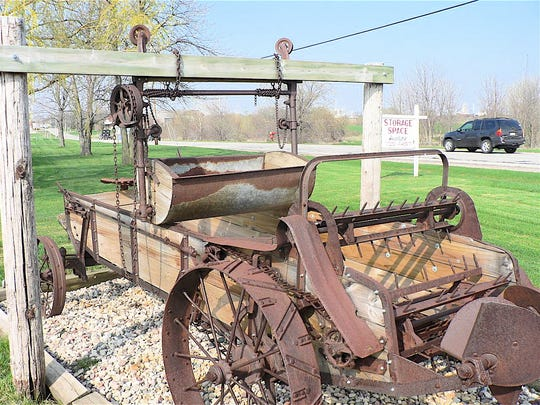 A manure carrier and spreader from days gone by when dairy herds and barns were small.