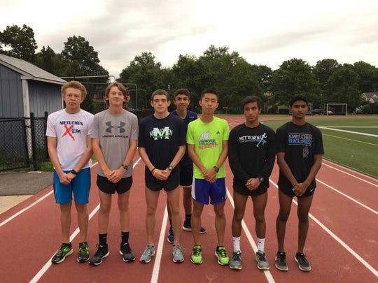 Metuchen cross country runners Alex Yakowenko, Eddie