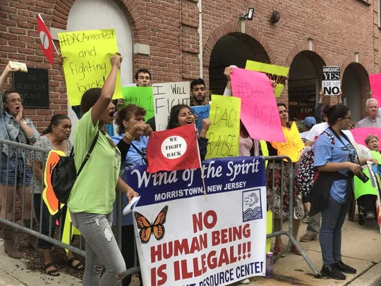 Immigrants and allies attend rally in Morristown on