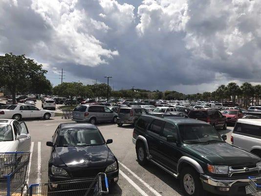 Walmart parking lot jammed on U.S. 1 in Port St. Lucie